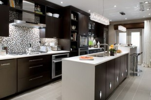 مدل کابینت ام دی اف در آشپزخانه شیک